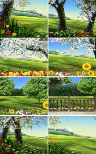 Çiçekler ile doğal fonlar